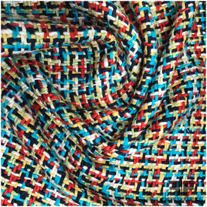Silk/Cotton Tweed - Multicolor