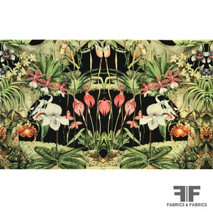 Floral & Fauna Printed Cotton Panel - Multicolor - Fabrics & Fabrics