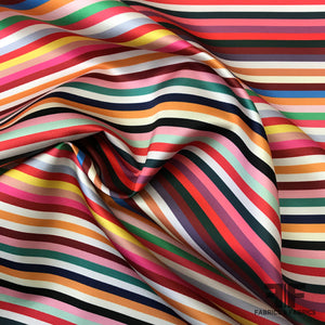 Italian Striped Zibeline - Multicolor - Fabrics & Fabrics