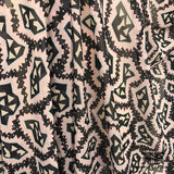 Italian Abstract Printed Silk Georgette - Pink / Blue / Black - Fabrics & Fabrics
