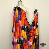 Large-Scale Abstract Stretch Knit - Multicolor