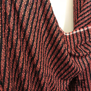 Italian Striped Tweed - Black/Hot Pink - Fabrics & Fabrics