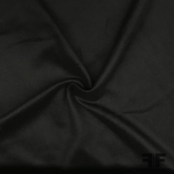 Heavy-Weight Wool Coating - Black - Fabrics & Fabrics