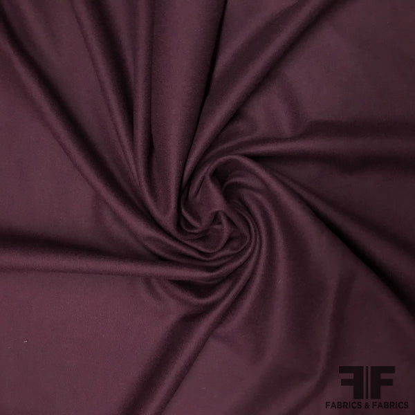 Wool Coating - Grape Purple