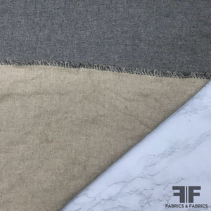 Italian Double-Faced Wool Coating - Grey/Taupe - Fabrics & Fabrics
