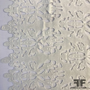 Abstract Floral Guipure Lace - White - Fabrics & Fabrics