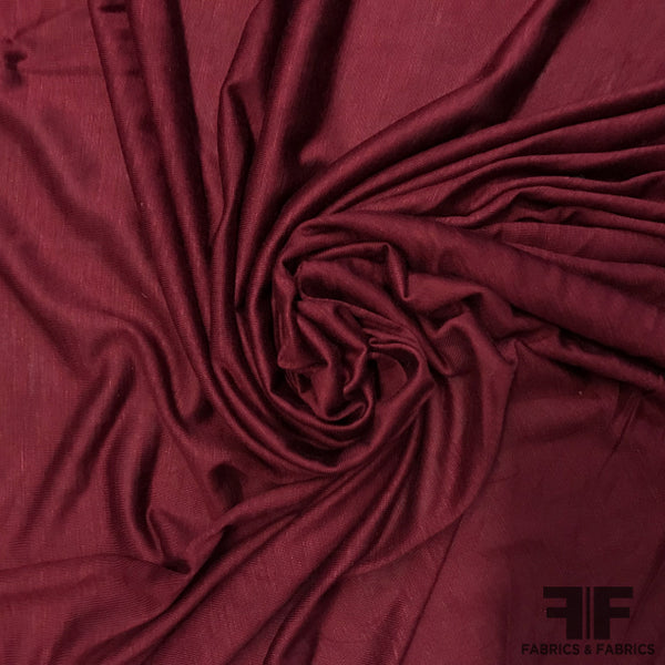 Feather-weight Sheer Jersey - Burgundy - Fabrics & Fabrics
