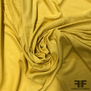 Italian Washed Rayon Jersey - Mustard Yellow