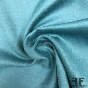 Double-Faced Angora Wool Coating - Ocean Blue