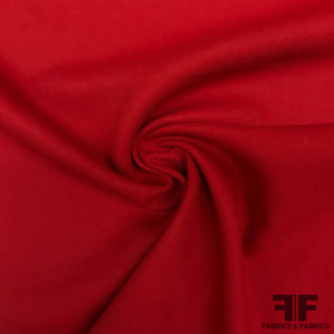 Italian Light-Weight Twill Wool Coating - Red - Fabrics & Fabrics
