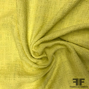 Cotton Boucle Suiting - Lemon Yellow - Fabrics & Fabrics