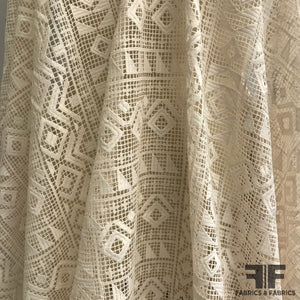 Geometric Guipure Lace - Cream