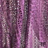 Tie-Dye Silk/Cotton Eyelet - Purple