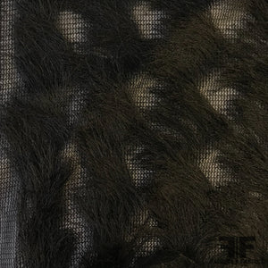 Zig-Zag Fringed Novelty Netting - Black