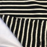 Striped Heavy Cotton Jersey with Fleece Back- Black/White