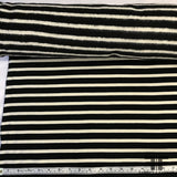 Stripped Heavy Cotton Jersey with Fleece Back- Black/White