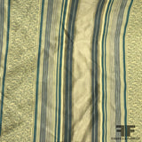 Silk Organza-Faced Jacquard - Teal/Green/Tan