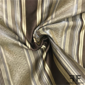 Silk Organza-Faced Jacquard - Brown/Tan