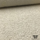 Italian Wool Boucle Coating - Ivory