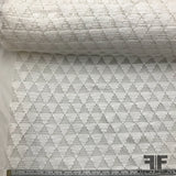 Italian Novelty Geometric Cotton - White