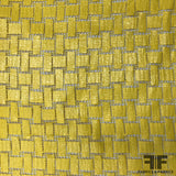 Italian Novelty Geometric Cotton - Banana Yellow