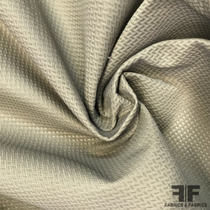 Geometric Diamond Spacer Mesh - Taupe - Fabrics & Fabrics