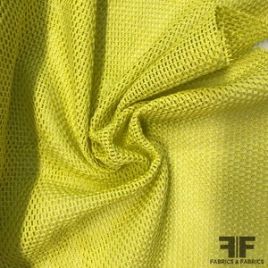 Cotton Spacer Mesh - Lemon - Fabrics & Fabrics