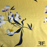 Floral Silk Charmeuse - Yellow/Multicolor - Fabrics & Fabrics