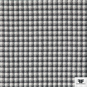 Plaid Tweed - Black/White