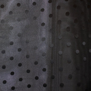 Polka Dot Silk Gazar - Black