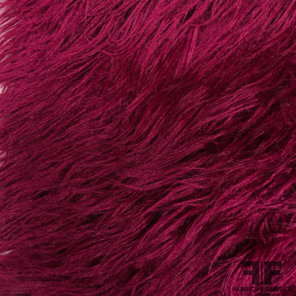 Long Fringed Faux Fur - Magenta