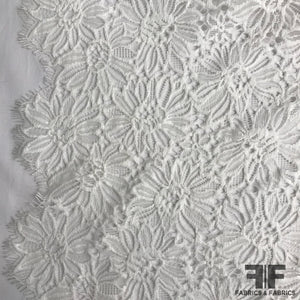 Scalloped Floral Lace - Off White