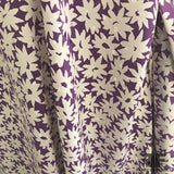 Floral Silk Jacquard - Purple/ Off White