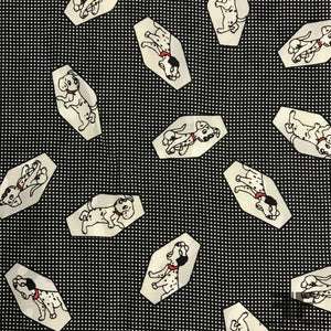 Disney's 101 Dalmatians Printed Silk Jacquard - Black/White/Red