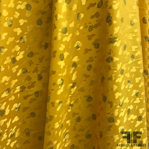 Polka Dot Silk Jacquard - Yellow Gold