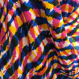 Italian Abstract Animal Print Silk Twill - Multicolor