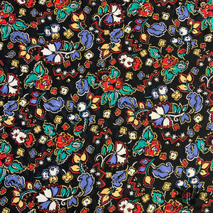 Floral Silk Jacquard - Black/Multicolor