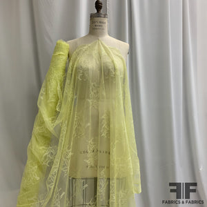 Floral Scalloped Lace - Lemon Yellow