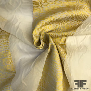 Novelty Striped Organza - Tan/Gold