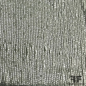 Sequined Silk Georgette - Seafoam/Silver