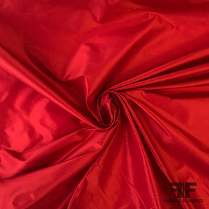 Solid Silk Taffeta - Red
