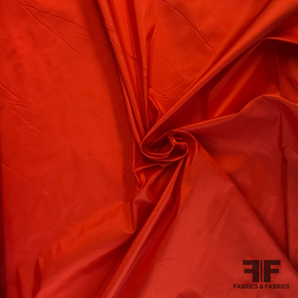 Solid Silk Taffeta - Blood Orange