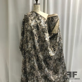 Abstract Brocade - Nude Pink/White Silver/Brown