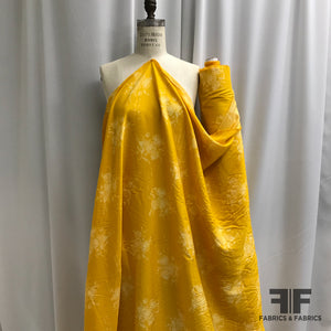 Floral Rayon Twill - Yellow