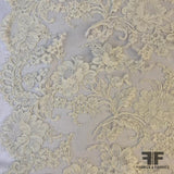 French Alencon Bridal Lace, Eyelash Scallops - Ivory