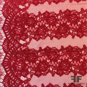 Corded Vertical Panel Lace - Crimson Red