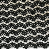 French Alencon Lace - Black