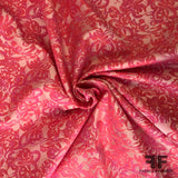 Floral High-Sheen Brocade - Pink/Hot Pink
