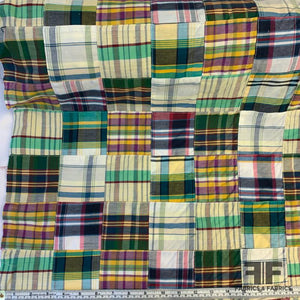 Patchwork Madras Plaid Shirting - Multicolor