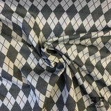 Argyle Cotton Jacquard - Grey